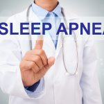 Image of doctor and words: sleep apnea