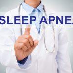 Image of doctor and words: sleep apnea