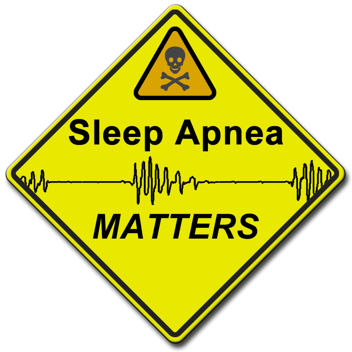 Logo for SleepApneaMatters.com website.